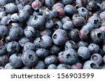 Blueberrys On A White...