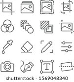image editing icons set vector... | Shutterstock .eps vector #1569048340