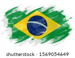 Brazilian Flag Painted With...