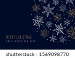 christmas snowflakes elements... | Shutterstock .eps vector #1569098770