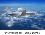 private jet cruising above the...   Shutterstock . vector #156910958