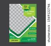 fitness   gym flyer template ...   Shutterstock .eps vector #1569122746