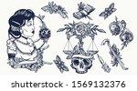 noir film lady. old school...   Shutterstock .eps vector #1569132376