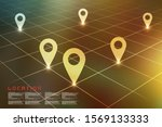 2d rendering red map pointer... | Shutterstock . vector #1569133333