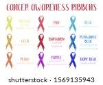 watercolor awareness ribbons.... | Shutterstock . vector #1569135943