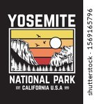 yosemite  national park vector... | Shutterstock .eps vector #1569165796
