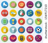 set of sport icons in flat... | Shutterstock .eps vector #156917210