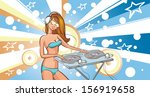 vector illustration of summer... | Shutterstock .eps vector #156919658