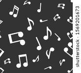musical notes seamless pattern. ... | Shutterstock .eps vector #1569201673