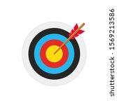 simple flat minimalist archery... | Shutterstock .eps vector #1569213586