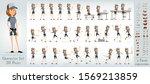 cartoon flat cute funny hipster ... | Shutterstock .eps vector #1569213859