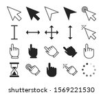 Line Cursor Set Vector Isolated....