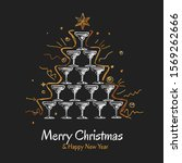 christmas greeting card with...   Shutterstock .eps vector #1569262666
