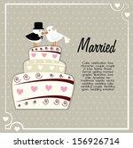 married design over gray... | Shutterstock .eps vector #156926714