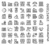 online loan icons set. outline... | Shutterstock .eps vector #1569272050