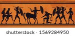 ancient greece scene. historic... | Shutterstock .eps vector #1569284950