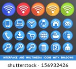 interface and multimedia icons... | Shutterstock .eps vector #156932426