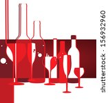 wine menu card design with... | Shutterstock .eps vector #156932960