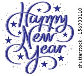 happy new year hand lettering | Shutterstock .eps vector #156933110