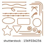 rope. set of various decorative ... | Shutterstock .eps vector #1569336256