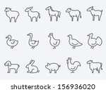 farm animals | Shutterstock .eps vector #156936020