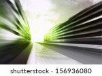 motion blurred racetrack in... | Shutterstock . vector #156936080