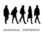 vector silhouettes of  men and... | Shutterstock .eps vector #1569369613