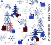 christmas pattern. bright... | Shutterstock .eps vector #1569370003