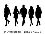 vector silhouettes of  men and... | Shutterstock .eps vector #1569371173