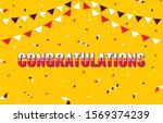 banner with congratulations.... | Shutterstock .eps vector #1569374239