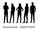 vector silhouettes of  men and... | Shutterstock .eps vector #1569375370