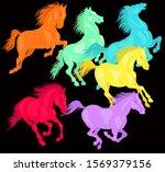 vector illustration. running... | Shutterstock .eps vector #1569379156