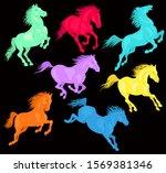 vector illustration. running... | Shutterstock .eps vector #1569381346