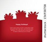 christmas presents  | Shutterstock .eps vector #156938708