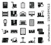 inventory warehouse icons set....   Shutterstock .eps vector #1569399313