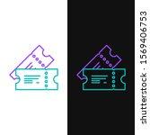 green and purple line cinema... | Shutterstock .eps vector #1569406753