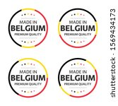 set of four belgian icons ... | Shutterstock .eps vector #1569434173