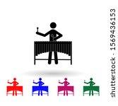 vibraphone marimba player...