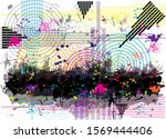 abstract colorful circles... | Shutterstock . vector #1569444406
