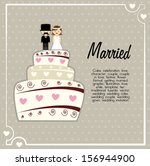 married design over gray... | Shutterstock .eps vector #156944900