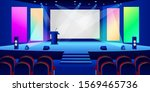 conference hall interior. empty ... | Shutterstock .eps vector #1569465736