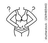 urogynecology female body icon. ...