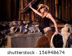country girl on the farm.... | Shutterstock . vector #156948674