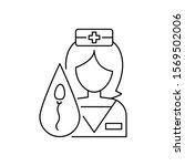 nurse icon. simple line ...
