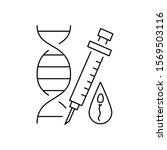 genes injection icon. simple...