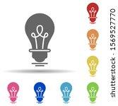 bulb  light  creative in multi...
