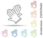hands  surgical gloves in multi ...