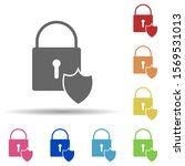 lock shield in multi color...