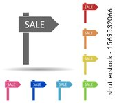 sale sign in multi color style...