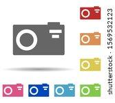 photo camera in multi color...